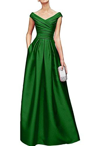 V Promkleider Braut Damen Bodenlang Jaeger Blau Marie Satin Royal Ausschnitt Gruen La Brautmutterkleider Abendkleider gvwUY5qU