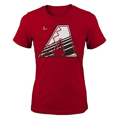 - Outerstuff Arizona Diamondbacks Majestic MLB Little Girls Red Winners Train T-Shirt