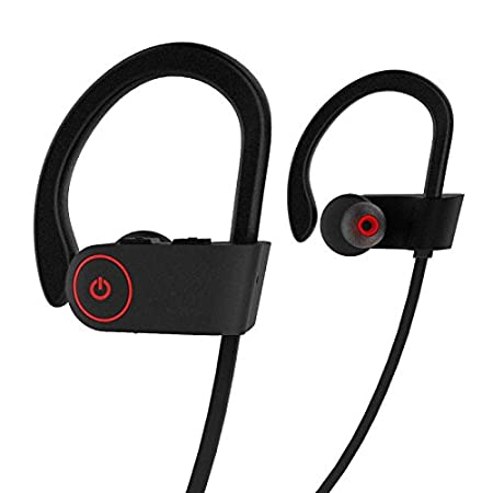 Auriculares inalámbricos, ROTUYES Auriculares inalámbricos, Auriculares deportivos con micrófono, IPX7 Impermeable HD Estéreos Play Time para correr, ...