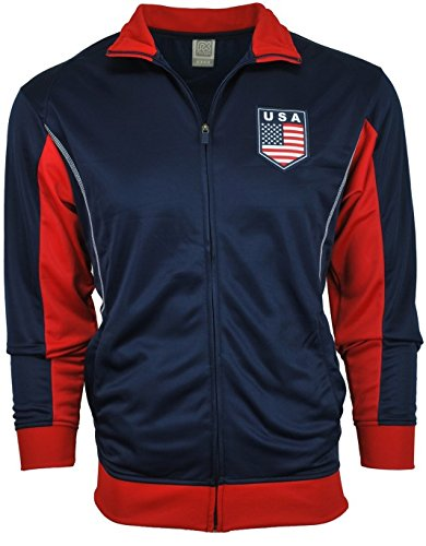 Price comparison product image USA United States America Jacket Track Soccer Adult Sizes Soccer Football Official Merchandise X-Large Blue