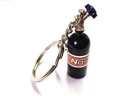 1x NOS Power Lachgas Flasche Einspritzung Schlüsselanhänger schwarz aus ALU Schlüssel KFZ PKW G60 G40 VR6 16V Flasche mit abnehmbarnen Deckel Anhänger ca 10, 0 Lang & 1, 6 Breit ore 6461