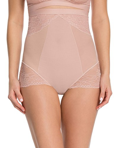 SPANX Plus Size Lace Collection High-Waist Brief, 1X, Vintage Rose