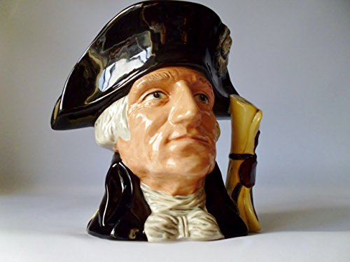 Doulton Large Character Jug - ROYAL DOULTON CHARACTER JUG ~ GEORGE WASHINGTON D6669 Large