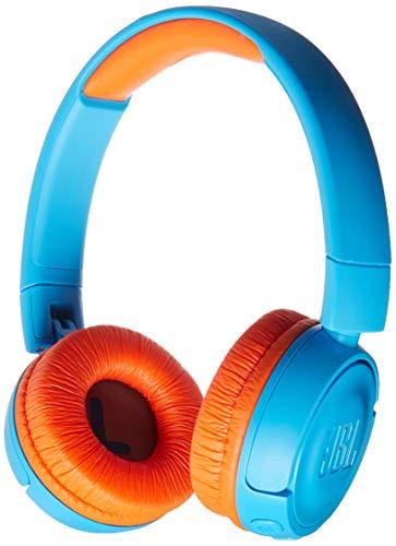 JBL JR 300BT – On-Ear Wireless Headphones for Kids – Blue/Orange