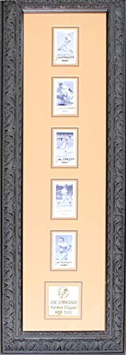 - Joe DiMaggio Autographed Framed Pinnacle Card Set - Baseball Slabbed Autographed Cards