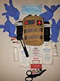 Bleeding Control Kit, First Aid Kit, IFAC, Tactical Tourniquet, Trauma Pack for Stop The Bleed and Boy Scout Camping and Hiking Every Day Carry or Prepping Everyday (Coyote)