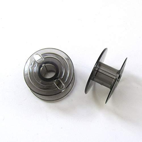KUNPENG - 20 Plastic Bobbins Sewing fit for Elna 300,1010,1500,1600,2002,6005,7000 CE20,Club Smoke #493555 20PCS ()