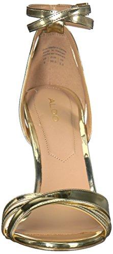 Sandalo Con Tacco Donna Aldo Learia Oro