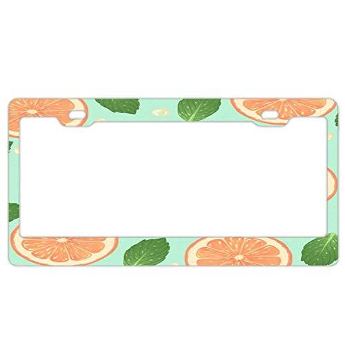 - Pink Lemonade Car License Plate Cover Frame, Stainless Metal Novelty Black License Plate Frame