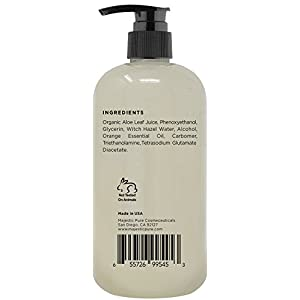 Majestic Pure Wonder Face and Full Body Lotion, Daily Face Moisturizer, Nourishing and Calming Skin Lotion, 91% Organic Formula, 9 oz