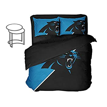 Image of Ancofan 3D Print Charlotte City Bedding Sheet Football Fan Bed Sets Twin (Style, Queen-4pcs) Home and Kitchen