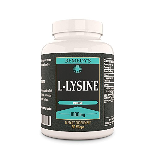 L Lysine Remedys Nutrition MEGA STRENGTH Vegan 1,000 mg / 60,000 mg per bottle Vcaps