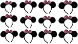 VOVOV Minnie Mouse Ears with Pink Bow (Lot of 10) Perfect for Birthdays