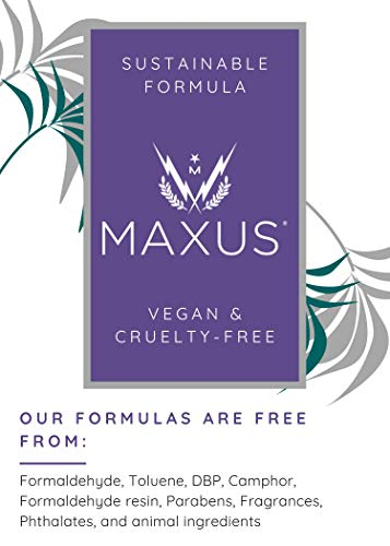 Maxus Nails Finito Top Coat Nail Polish, High Shine, Quick-Drying, 0.5 Fl. Oz.
