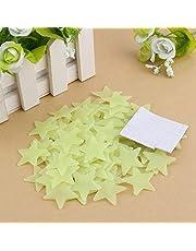 Aigend Star Muurstickers - 100 stuks Glow in the Dark Stars Stickers 3D Lichtgevende Muur Plafond Sterren Stickers Decoratie voor Baby Kid Kwekerij Slaapkamer