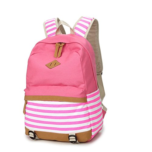 Blushing donna Pink Canvas da Rosa Backpack Pattern Print Borse Blue Black p8SZwq