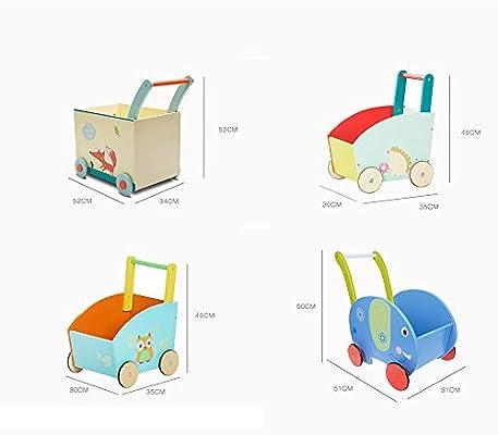 Andador Madera bebé Walker Kid de dibujos animados Compras Walker ...