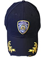 NYPD Baseball Hat New York Police Department Navy & Gold One Size