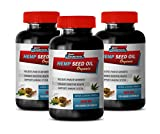 Stress Relief Supplement Natural - Hemp Seed Oil Organic 1000 MG - Natural Cleansing Formula - Hemp Oil Extract Organic - 3 Bottles (360 Liquid Capsules)