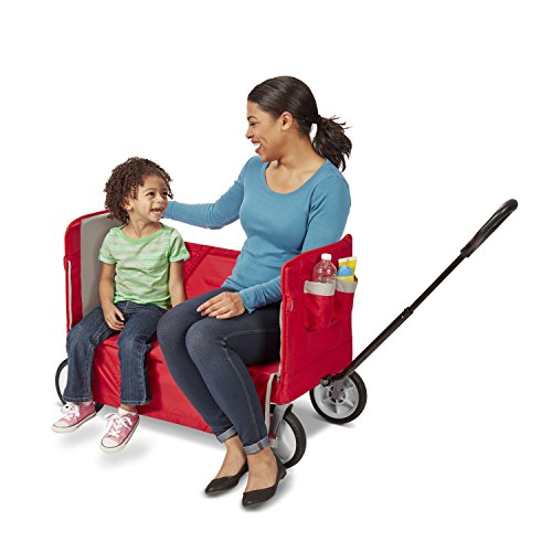 41tXXECOv7L - Radio Flyer 3-in-1 EZ Folding Wagon for kids and cargo