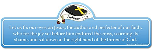 Hebrews 12:2 Bible Verse Sign | Let us fix Our Eyes on Jesus, The Author  and Perfecter of Our Faith, who for The Joy Set Before him endured The  Cross,
