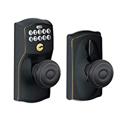 Lose your keys for the last time. No more hiding keys under the doormat or losing, forgetting, or making extras keys time and time again. Step up to a more secure and flexible solution with Schlage electronic door locks. Install a new keyless...