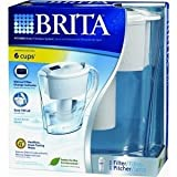 Brita 42364 Space Saver Water Filter Pitcher