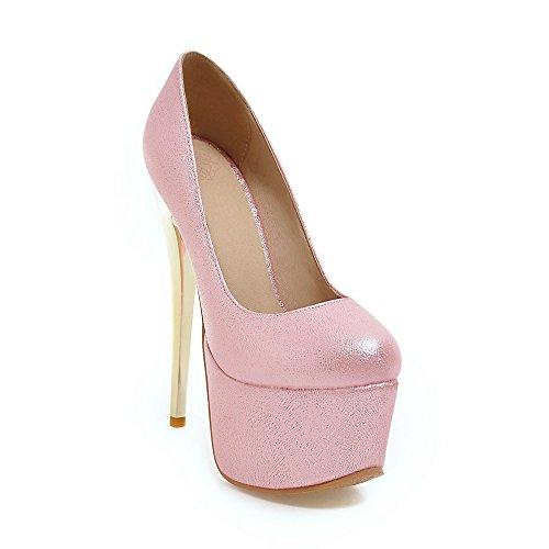 discothèque hauts talons amp;S de bouche nbsp;Bloc forme MEI profonde Parti Red Pompes plate femmes Pink Chaussures peu cF7qIwHT