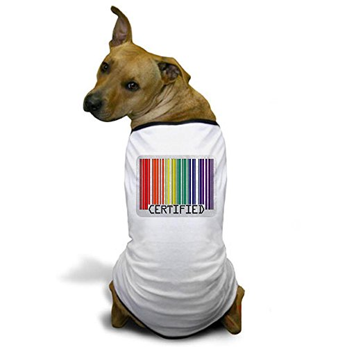 Royal Lion Dog T-Shirt Gay Certified Pride Bar Code - Small