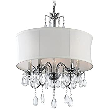 chandeliers and pendant lighting. White Drum Shade Crystal Chandelier Pendant Light Chandeliers And Lighting L