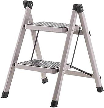 SED Escaleras de tijera multiusos Escalera plegable 2 peldaños Taburete alto antideslizante de 58 cm,H: Amazon.es: Bricolaje y herramientas
