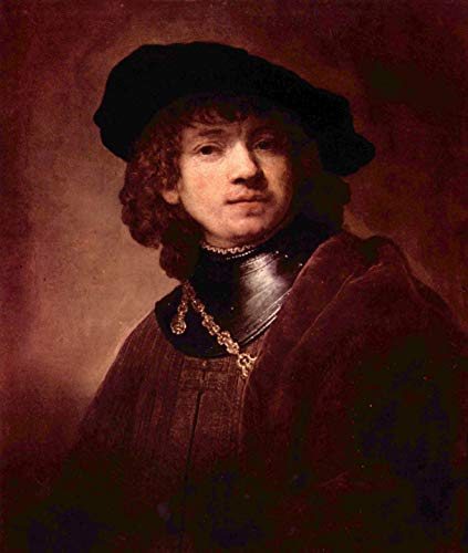Home Comforts Peel-n-Stick Poster of Rembrandt Harmensz. Van Rijn - Self -Portrait as a Young Man Vivid Imagery Poster 24 x 16 Adhesive Sticker Poster Print