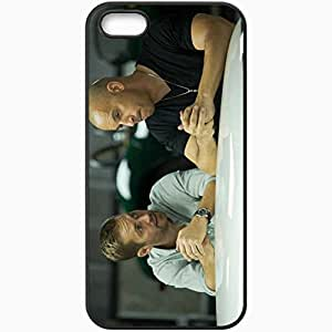 taoyix diy Personalized iPhone 5 5S Cell phone Case/Cover Skin Fast and furious 6 fast six vin diesel dominic toretto actor Movies Black