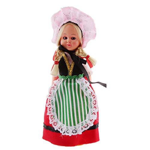 [Vintage Costume Clothing Ethnic Doll Girl Toy Travel Souvenir Gift-France] (France Costume For Girls)