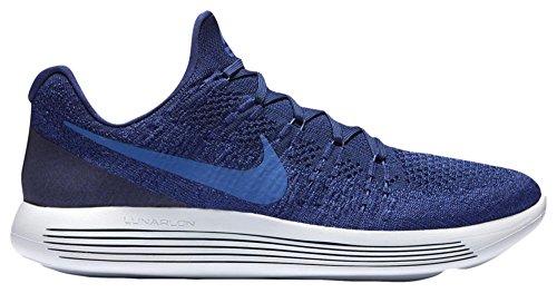 Nike Lunarepic Low Flyknit 2, Scarpe da Running Uomo Profonda Blu Reale / Blu Medio