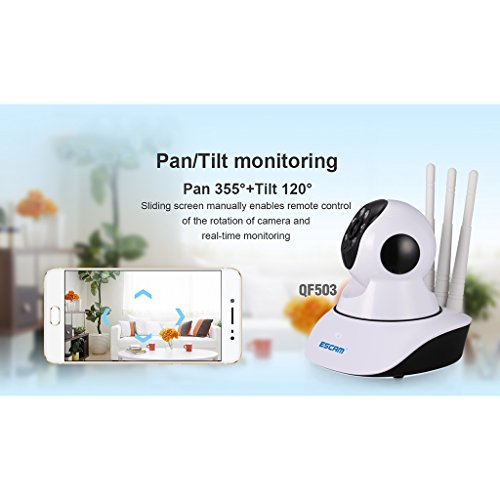 MonkeyJack Escam QF503 Pan Tilt Wireless IP Camera 960P IR Security Network Night Vision WiFi Webcam US Plug by MonkeyJack (Image #7)
