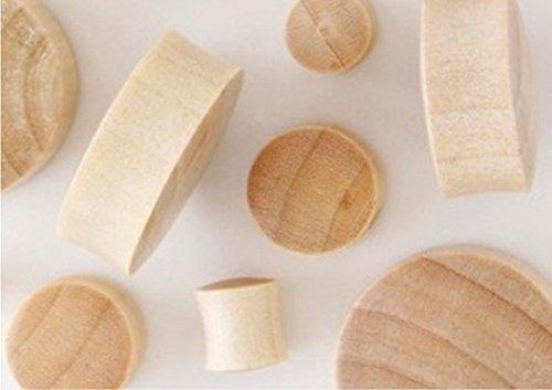 100% Handmade Organic Solid Blonde Crocodile Wood Ear Plugs - 21mm