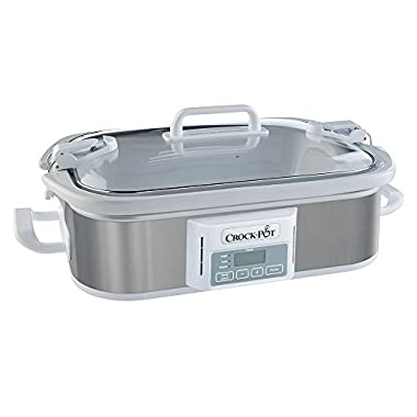 Crock-pot® 3.5 Qt Programmable Stoneware Casserole Slow Cooker, Stainless Steel