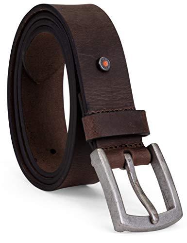 Timberland PRO Men's 40mm Workwear Leather Belt, brown/rivet, 34