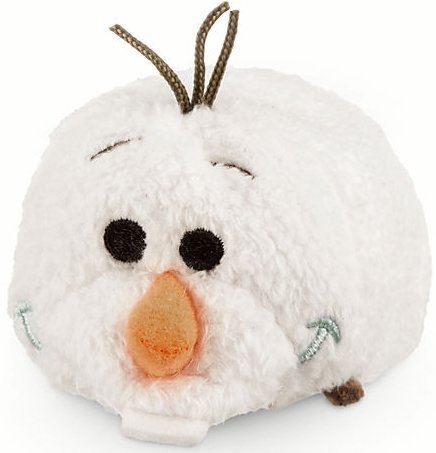 Disney Olaf 'Tsum Tsum' Plush - Frozen - Mini - 3 1/2' L,White, Orange, Black, Blue, Brown