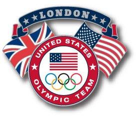 London 2012 Team USA Olympic Team Dual Flag ()