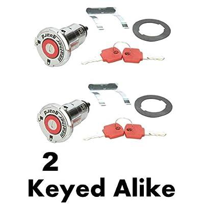 Weather Guard 7748-2PK Replacement Truck Tool Box Locks (2 Locks Keyed Alike): Automotive