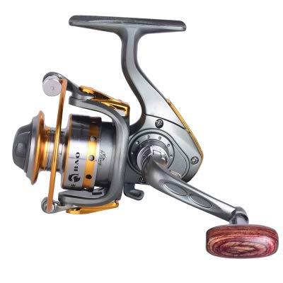 (Zizule Mini Metal Spinning Ice Fishing Reel Left/Right Exchangeable)