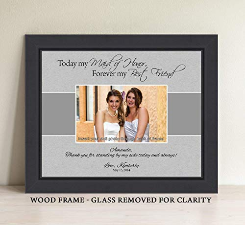 Personalized Maid of Honor Gift, Matron of Honor Gift, Bridesmaid Gift, Personalized Picture Frame