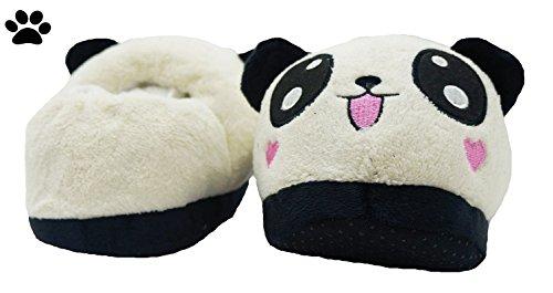PELUCHE - Zapatillas de estar por casa de algodón para mujer taglia unica Modelo 3