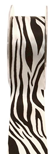 May Arts Single Faced Satin Ribbon Animal Print 1-1/2