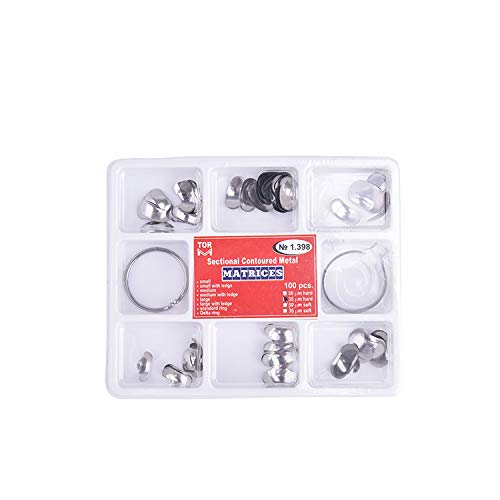 Annhua Dental Contoured Metal Matrices Matrix Bands, NO1.398 Stainless Steel 100 Pcs by Annhua