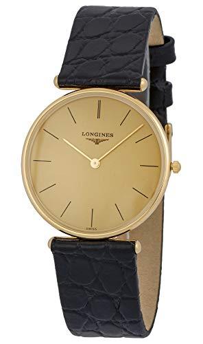 Longines La Grande Classique 18K Solid Gold Mens Strap Watch L4.691.6.32.2 ()