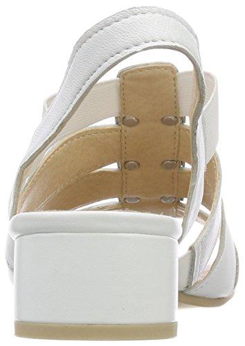 Bride 28200 Blanc White Sandales Femme 139 Perlato arrière Caprice qwPRvpF