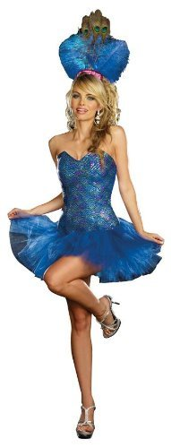 Peacock Costume Halloween Express (Peacock Envy Adult Costume -)